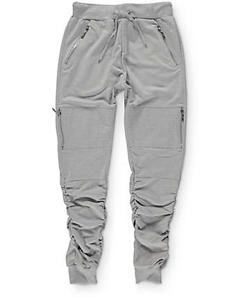 American Stitch pantalones jogger elásticas de rizo gris
