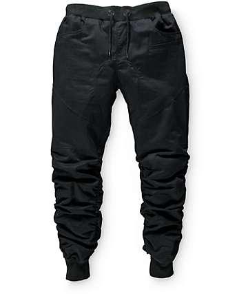 American Stitch pantalones joggers fruncidos de tela asargada