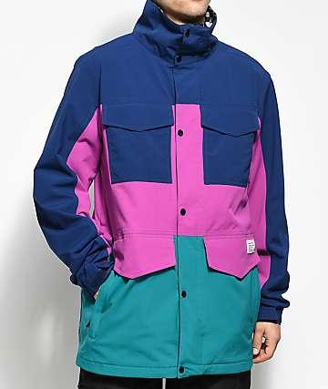 Analog Tollgate Deflate Gate Blue 10K Snowboard Jacket