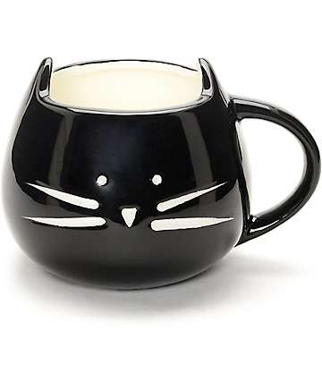 Ankit Black Kitty Coffee Mug