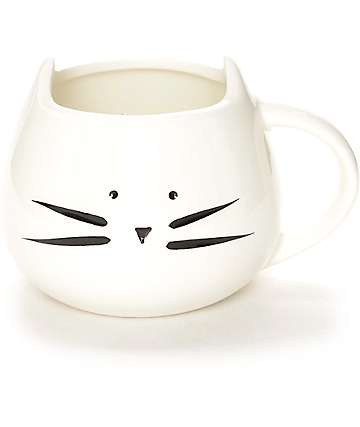Ankit White Kitty Coffee Mug