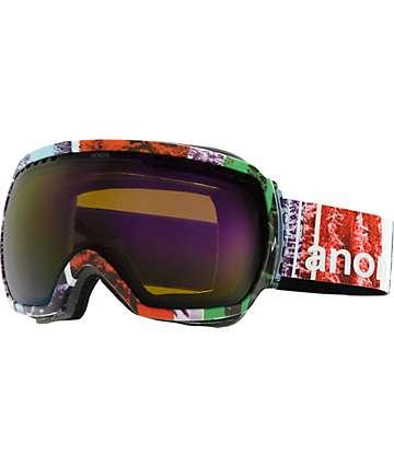 Anon Comrade Scramble & Blue Cobalt Snowboard Goggles