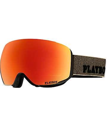 Anon M2 MFI Playboy Solex mascara de snowboard en rojo