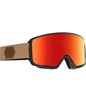 Anon M3 MFI Polaris Red Solex Snowboard Goggles
