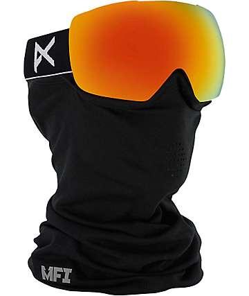 Anon Mig MFI Solex mascara de snowboard en negro y rojo