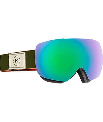 Anon Mig MFI Wellington Green Solex Snowboard Goggles
