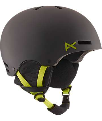 Anon Raider Black & Green Snowboard & Skateboard Helmet