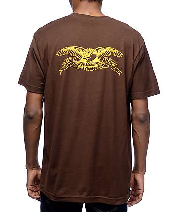 Anti Hero Back Eagle Brown T-Shirt