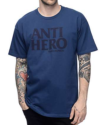 Anti Hero Black Hero Harbor Blue T-Shirt