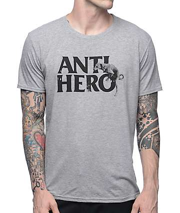 Anti Hero Doghump Heather Grey T-Shirt