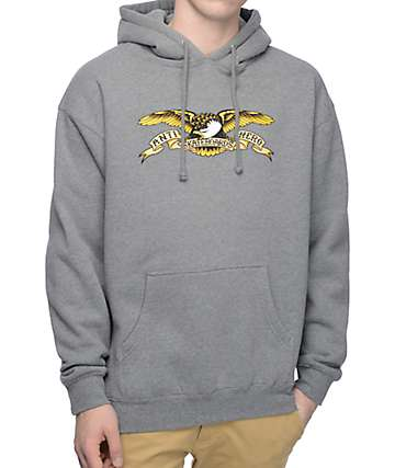 Anti Hero Eagle Classic Eagle Heathery Grey Hoodie