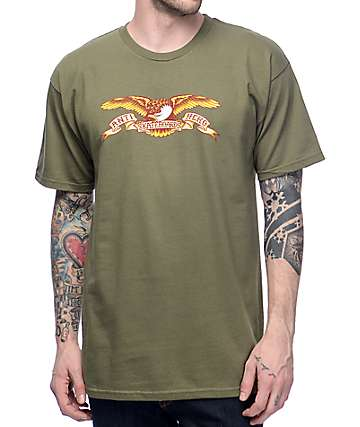 Anti Hero Eagle Military Green T-Shirt
