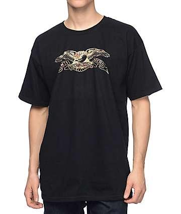Anti Hero Eagle Real Tree camiseta negra