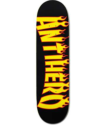 "Anti Hero Flaming Skate Co 8.38"" Skateboard Deck"