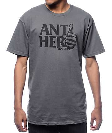 Anti Hero Thumb Hero Charcoal T-Shirt