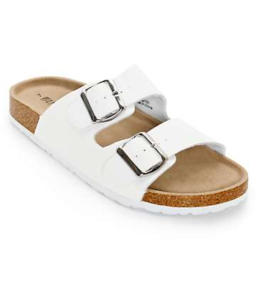 Antic Fremont White Sandals