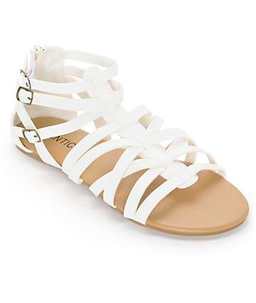 Antic White Gladiator Sandals