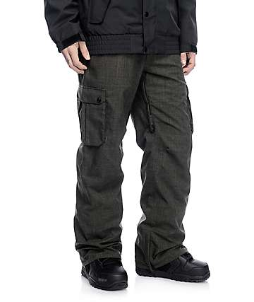 Aperture Alive 10K Dark Green Cargo Snowboard Pants