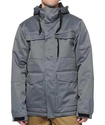 Aperture Alpha M-65 10K Grey Twill Snowboard Jacket