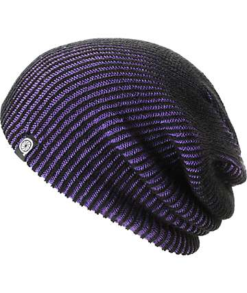 Aperture Avenue Purple & Black Beanie