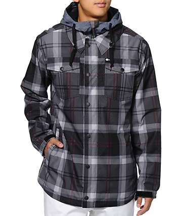 Aperture Beridge 10k Grey Plaid Snowboard Jacket