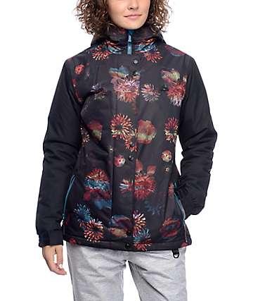 Aperture Cannon Black Floral Print 10K Snowboard Jacket