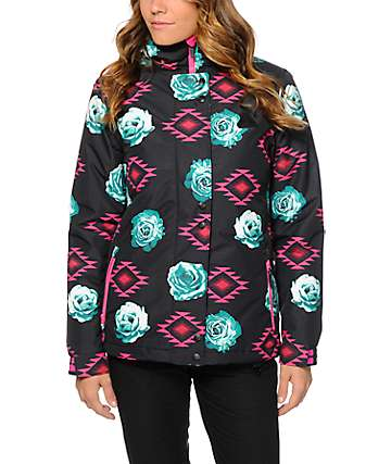 Aperture Cannon Floral Tribal 10K Snowboard Jacket