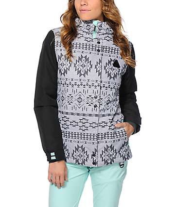 Aperture Cannon Grey Tribal 10K Snowboard Jacket