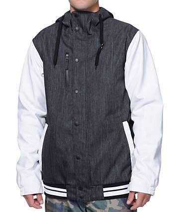 Aperture Cascade 10K Denim & White Varsity Snowboard Jacket