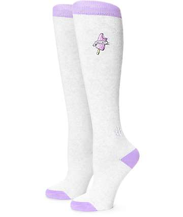 Aperture Chill Grey & Purple Snowboard Socks