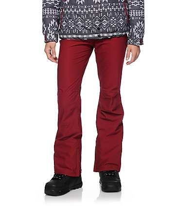 Aperture Crystal Maroon 10K Snowboard Pants