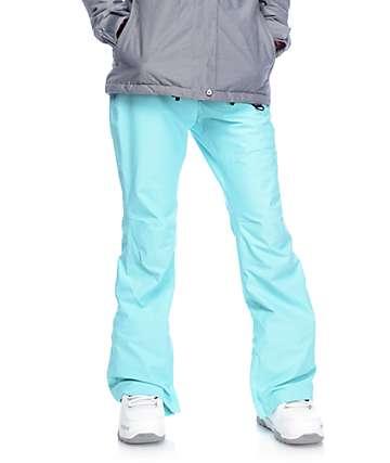 Aperture Crystal pantalones de snowboard elásticos 10K en color aqua