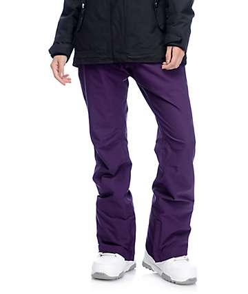 Aperture Crystal pantalones de snowboard elásticos 10K en color mora