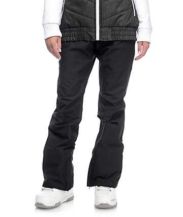 Aperture Crystal pantalones de snowboard elásticos 10K en negro
