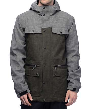 Aperture Delirium 10K chaqueta de snowboard en verde oscuro
