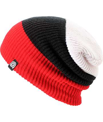 Aperture Ernesto Red & Black Beanie