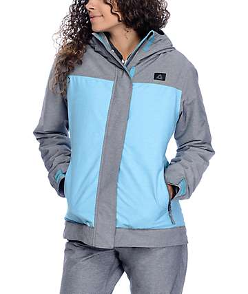 Aperture Glisten Charcoal & Teal Textured 10K Snowboard Jacket