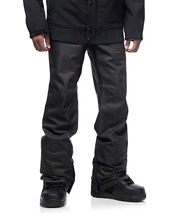 Aperture Green Line 10k Black Snowboard Pants