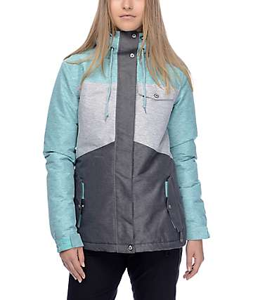 Aperture Heaven Mint, Grey & Charcoal 10K Snowboard Jacket