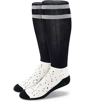 Aperture Ka-Pow Black & White Speckle Snow Socks