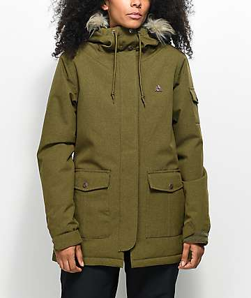 Aperture Lakeside Olive 10K Snowboard Jacket