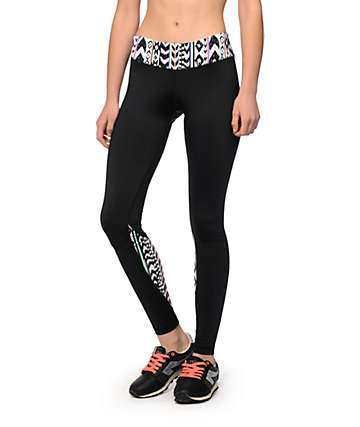 Aperture Murray Black & Multi Tribal Workout Pants