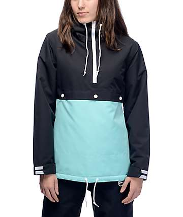 Aperture Olympic 10K Black & Sky Anorak Snow Jacket