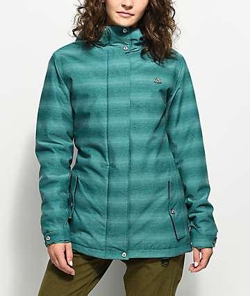 Aperture River Run Teal Melange 10K Snowboard Jacket
