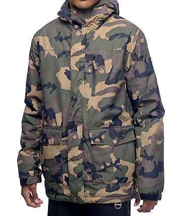 Aperture Secret Chute 10K Camo chaqueta de snowboard