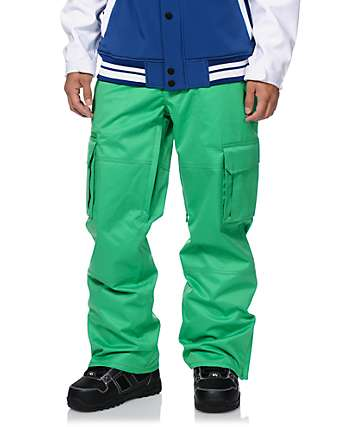 Aperture Sentry Kelly Green Cargo 10k Snowboard Pants