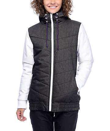 Aperture T-Bars chaqueta de snowboard 10K en blanco y negro