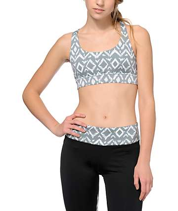 Aperture Tai Mint & Tribal X Back Sports Bra