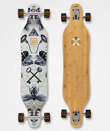 "Arbor Axis Bamboo Collection 40"" drop through longboard completo"