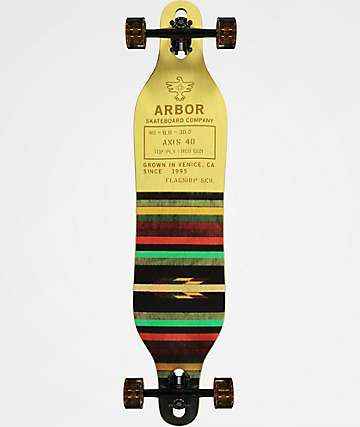 "Arbor Axis Flagship 40"" Drop Through Longboard Complete"